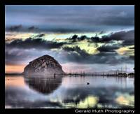 Reflections at Sunset. Morro Bay, California