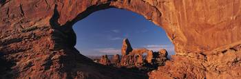 View thru a Red Rock Arch