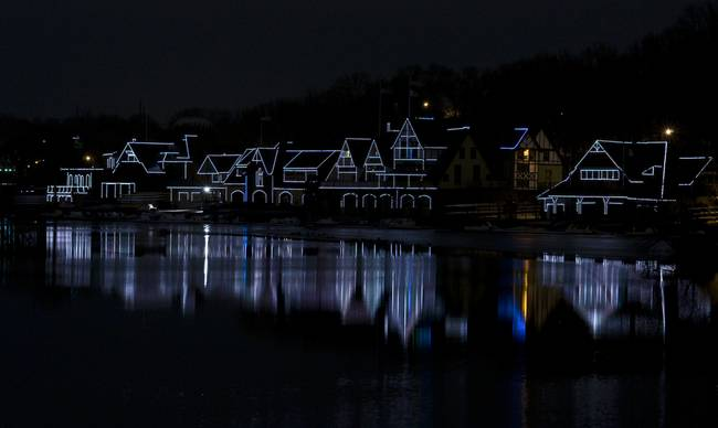 Boathouse Row After Dark