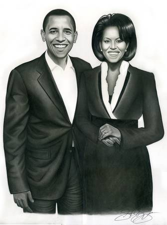 President Barack Obama & 1st Lady Michelle Obama! by Jerry La Vigne Jr