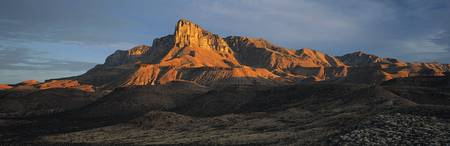 Face of the Rock Ridge at Sunset