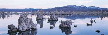 Panoramic Rock Formations in Lake
