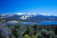 San Gorgonio behind Big Bear Lake by Tony Kerst