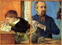 Portrait of the Sculptor Aube with Son