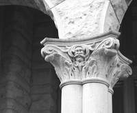 Column with Mustache