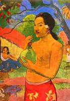 Tahiti Woman with Fruit Detail