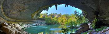 Hamilton Pool Grotto Panorama (HDR)