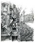 Boston's South End Pen and Ink
