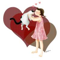 Valentine's Kiss Art Prints & Posters by Julia Yu