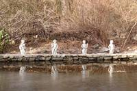 Cherubs overlooking Icy Pond