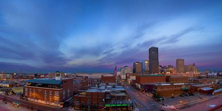 Panorama Downtown Oklahoma City At Sunrise
