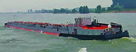 Barge on the Rhine10