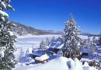 Big Bear Lake Under Ice by Tony Kerst