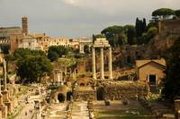 Ancient Roman Ruins in the heart of Rome