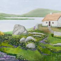 """IRISH COTTAGE ON LAKES OF KILLARNEY"" by PAULNEALON"
