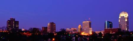 Winston-Salem Skyline at Dusk