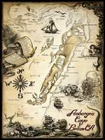 Ambergris Caye, Belize Nautical Chart by Savanna Redman