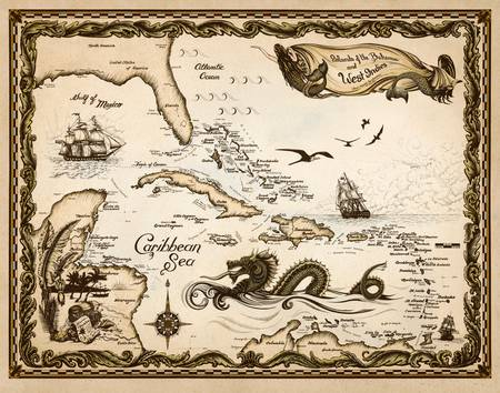 Caribbean Nautical Chart