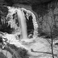 Looking Glass Falls-Winter View Art Prints & Posters by David Hopkins