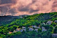Jamaican Homes on a Hill