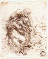 Study of St Anne Mary and the Christ Child 2