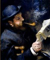 Claude Monet Reading a Newspaper