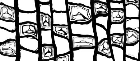 Black and White Abstract Pattern