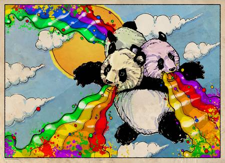 The Rainbow Vomiting Pandas Of Interestingness by Derek Chatwood