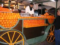 morocco - street trader 'orange juice'