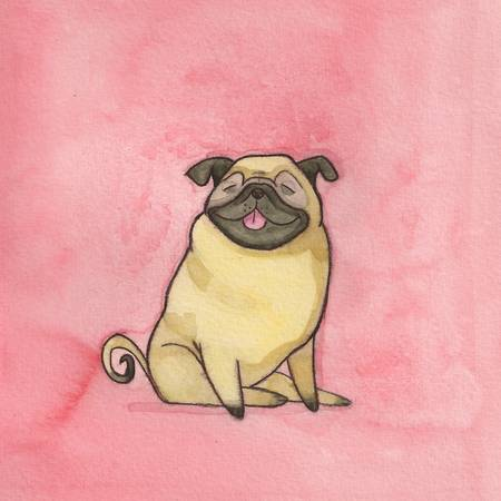 pug by jess golden