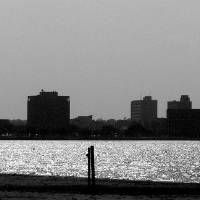 """Lake Charles Skyline"" by dgrohne"