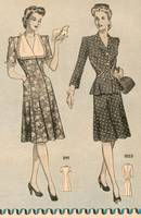 1943 Fashions, detail from Farm Journal magazine