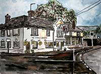 george and dragon pub restaurant painting