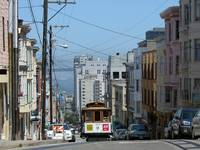 San Francisco Cable Car No 23 climbs Jackson St