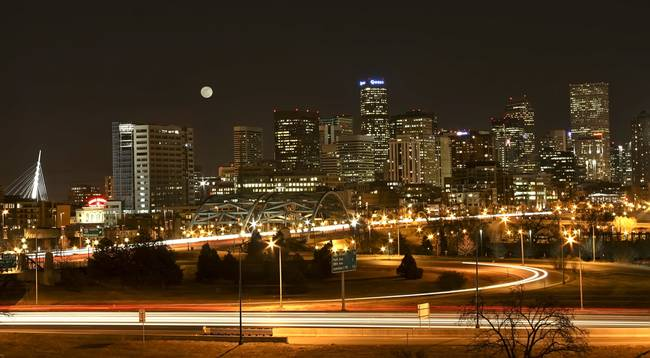 Denver Night Skyline