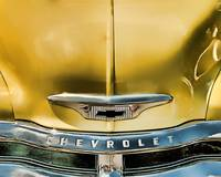 Yellow Chevy Hood