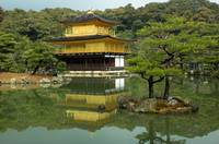 Kinkakuji - the famous Golden Pavilion at Kyoto, J