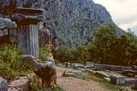 The Sacred Way in Springtime, Delphi, Greece 1960 by Priscilla Turner