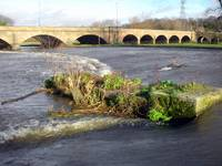 River In Flood, Burton on Trent  (12624-RDA)
