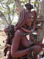 Himba mum with child