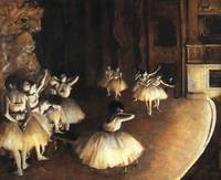 Rehearsal of a Ballet on the Stage