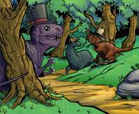 Dinosaurs in Hats