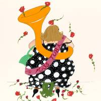 Miss Tuba Art Prints & Posters by SamanthaBarnes