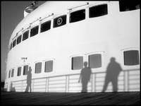 Shadows on a Ship's Bow