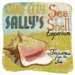 Surf City Sally's Sea Shells Faded