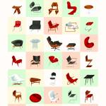 """Mid-Century Modern Furniture (Warm)"" by jamesprovost"