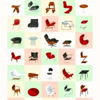 """""""Mid-Century Modern Furniture (Warm)"""" by jamesprovost"""