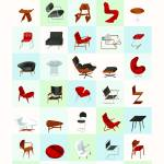 """Mid-Century Modern Furniture (Cool)"" by jamesprovost"