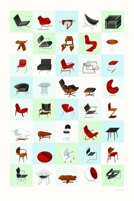 "Modern Furniture Drawings stunning ""modern"" drawings and illustrations for sale on fine art"