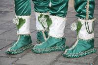Green and White Boots